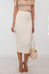 Long Pencil Skirt - Nude