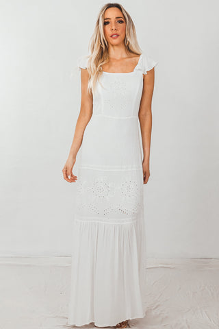 Sequin & Lace Maxi Dress