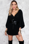 Deep-V Satin Romper