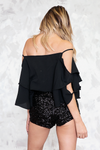 Cutout Sleeves Top