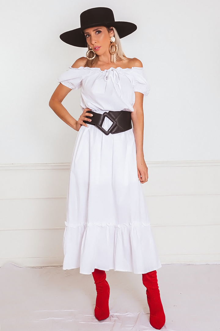 Off-the-Shoulder Midi Dress