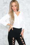 Casual Button-Up White Shirt - Haute & Rebellious