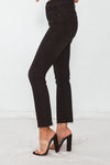 Flare Crop Denim Pant - Black