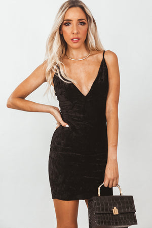 Crushed Velvet Mini Dress
