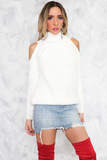 Sweater with Shoulder Cutouts