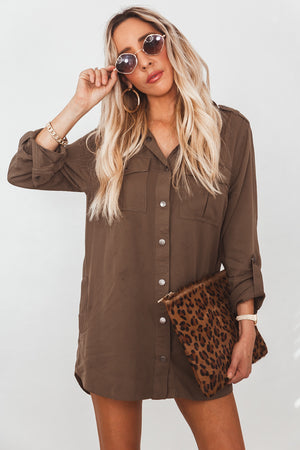 Button-Up Pocket Shirt - Olive