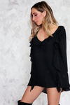 Bell Sleeve Blouse with Ruffle Detail