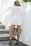 Embroidery Lace-Up Sun Dress /// Only 1-S Left /// - Haute & Rebellious