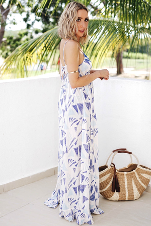 Feel The Sun Maxi Dress - Blue - Haute & Rebellious