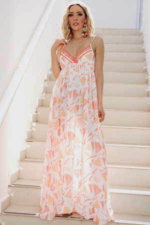 Feel The Sun Maxi Dress - Orange - Haute & Rebellious