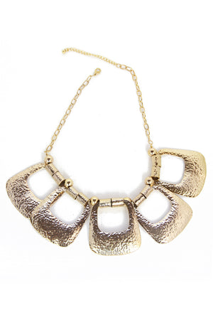 TRIBAL PLATE NECKLACE - Gold - Haute & Rebellious