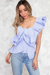One Shoulder Top with Ruffle /// Only 1-L left ///