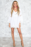 Crochet Trim Long Sleeve Dress /// ONLY 1-S LEFT/// - Haute & Rebellious