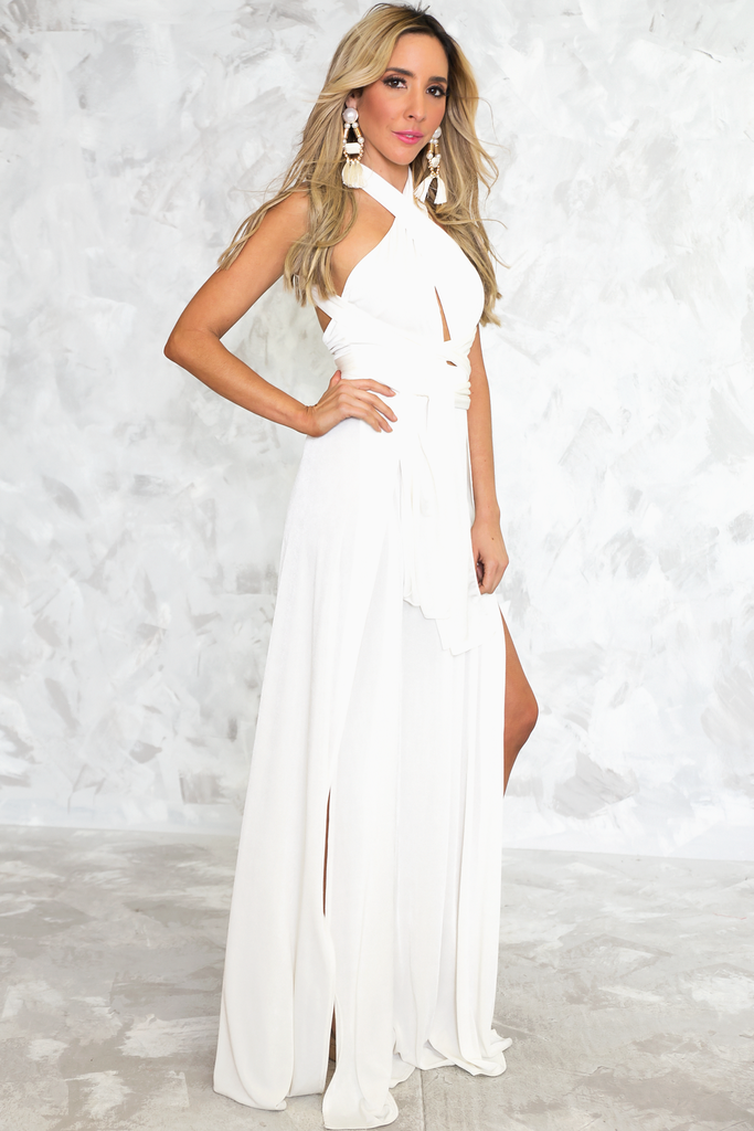 Let It Go Multi Wear Maxi Dress - White
