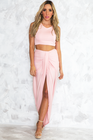 Rashana Two-Piece Set - Pink - Haute & Rebellious