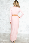 Lora High Slit Maxi Dress - Pink - Haute & Rebellious