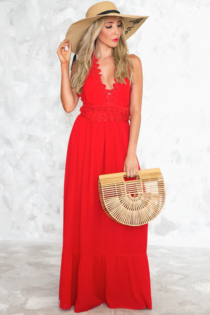 Craving You Scallop Crochet Maxi Dress - Haute & Rebellious