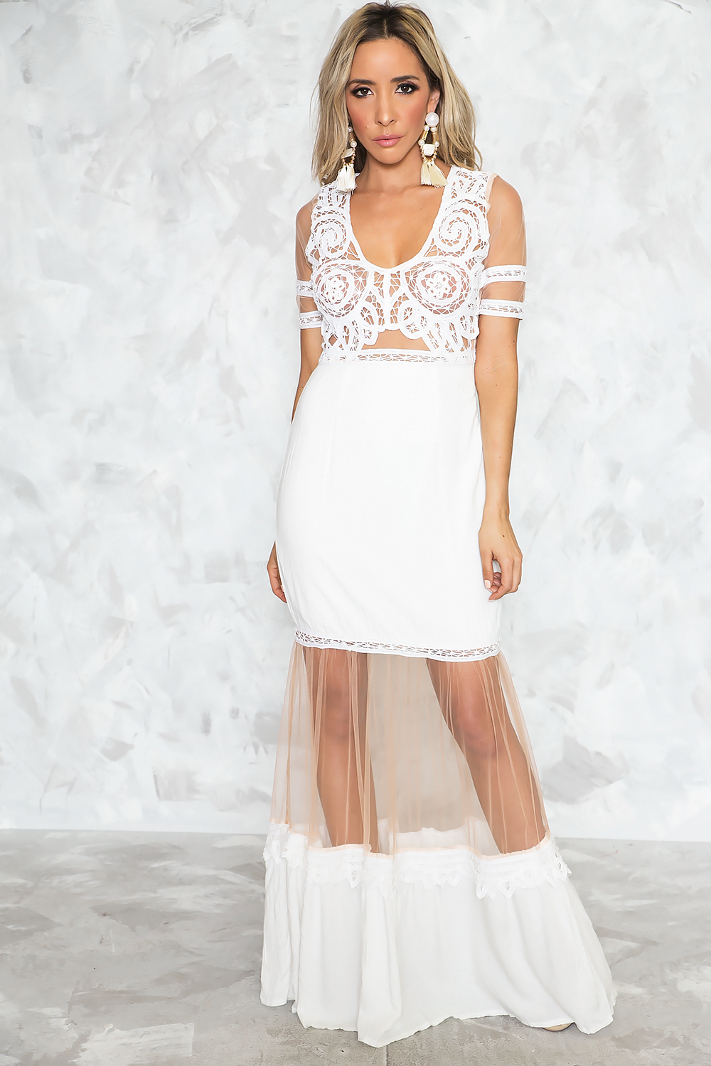 Never-never Land Maxi Dress - White - Haute & Rebellious