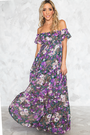 Don't Stop The Ruffle Tier Maxi Dress - Haute & Rebellious