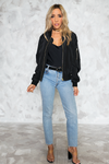 So Slick Light Bomber Jacket - Haute & Rebellious