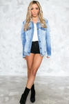 So Real Distressed Denim Jacket - Haute & Rebellious