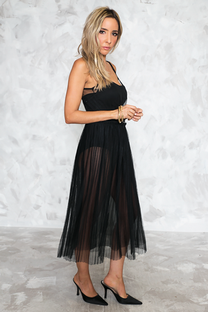 See Right Though Mesh Midi Dress - Haute & Rebellious