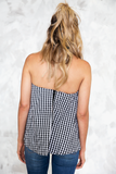 Hey Mama Gingham Top with Choker - Haute & Rebellious
