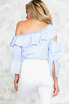 One-Shoulder Layered Ruffle Top