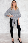 Wrap Ruched Sleeve Top