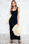 So You Stretch Ribbed Maxi - Black - Haute & Rebellious