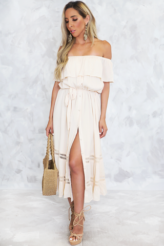 HARVEY CROSS-BODY HIGH SLIT DRESS