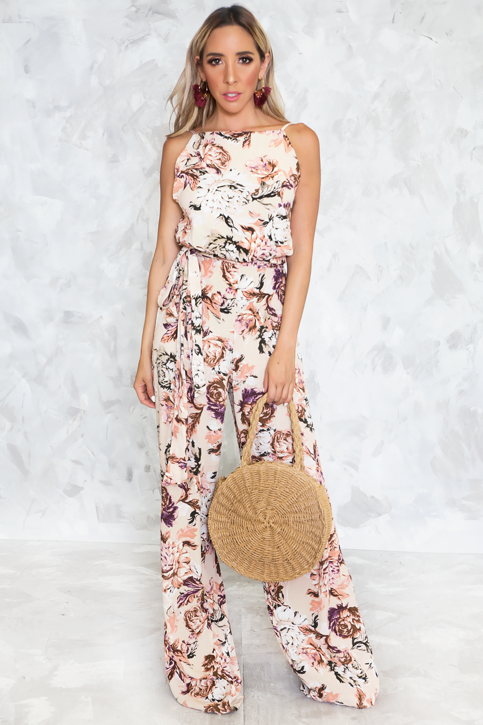 c083fbe328a The Weekend Halter Floral Jumpsuit - Haute   Rebellious