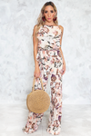 The Weekend Halter Floral Jumpsuit - Haute & Rebellious
