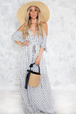 Wanderlust Shoulder Cutout Maxi Dress
