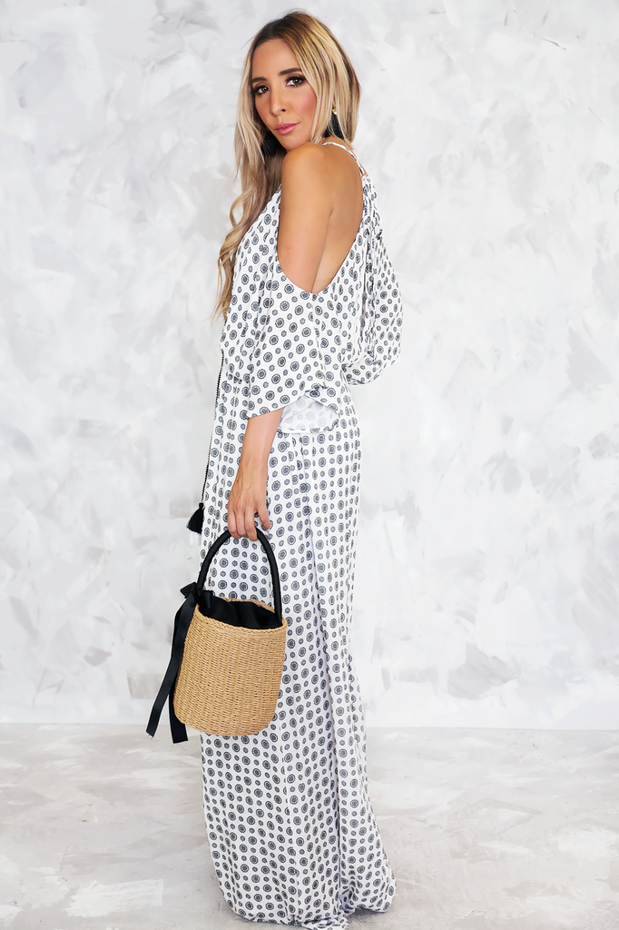 Wanderlust Shoulder Cutout Maxi Dress /// Only 1-S Left /// - Haute & Rebellious