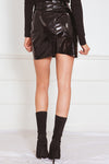 Patent Leather Mini Skirt - Black