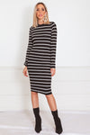 Stripped Midi Dress