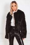 Luxurious Faux Fur Jacket - Black