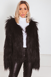 Faux Fur Jacket - Black