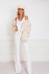Ultra Luxurious Faux Fur Jacket - Cream