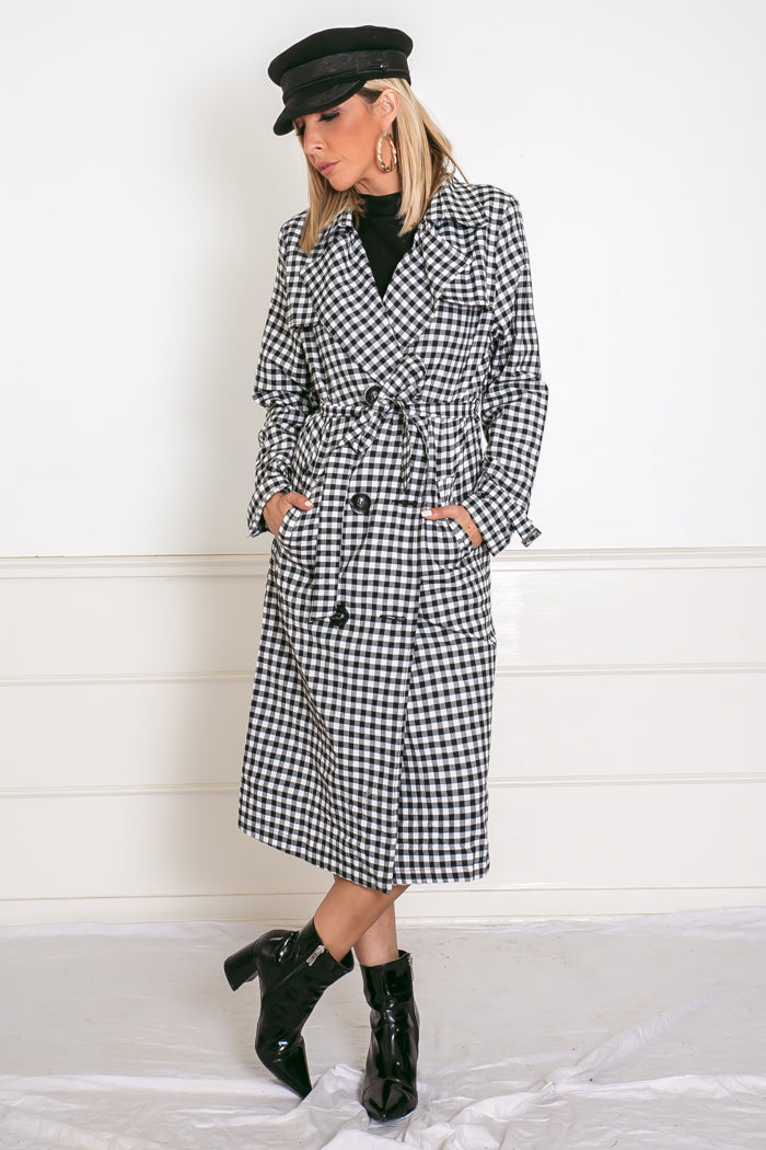 watch aliexpress new concept Checkered Trench Coat
