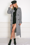 Checkered Trench Coat