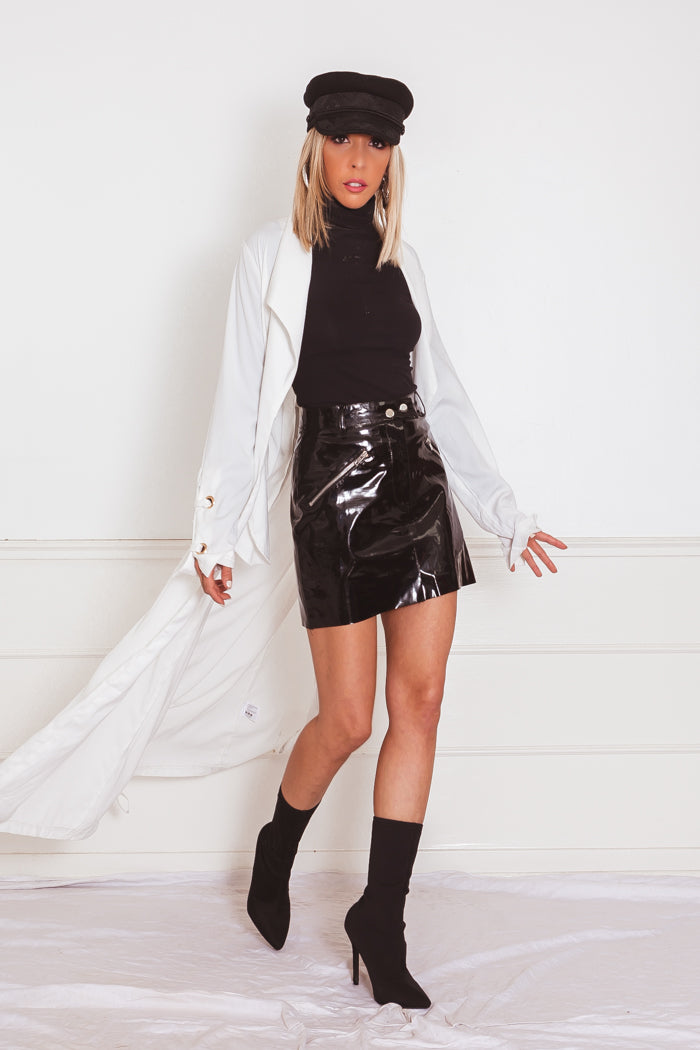 Wrap Soft Trench Coat - White