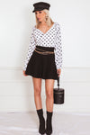 Polka Dot Top with Long Sleeves /// Only 1-S Left ///