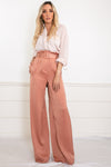 Palazzo Pant with Belt - Blush