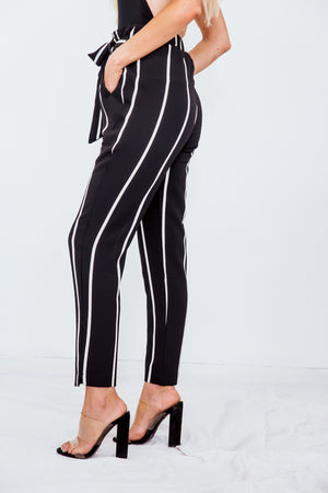 Striped Pant with Tie Waist
