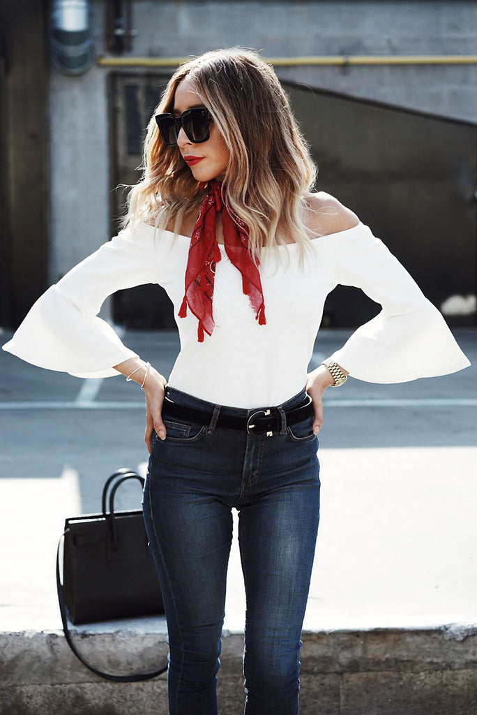 Taking Names Bell-Sleeve Bodysuit