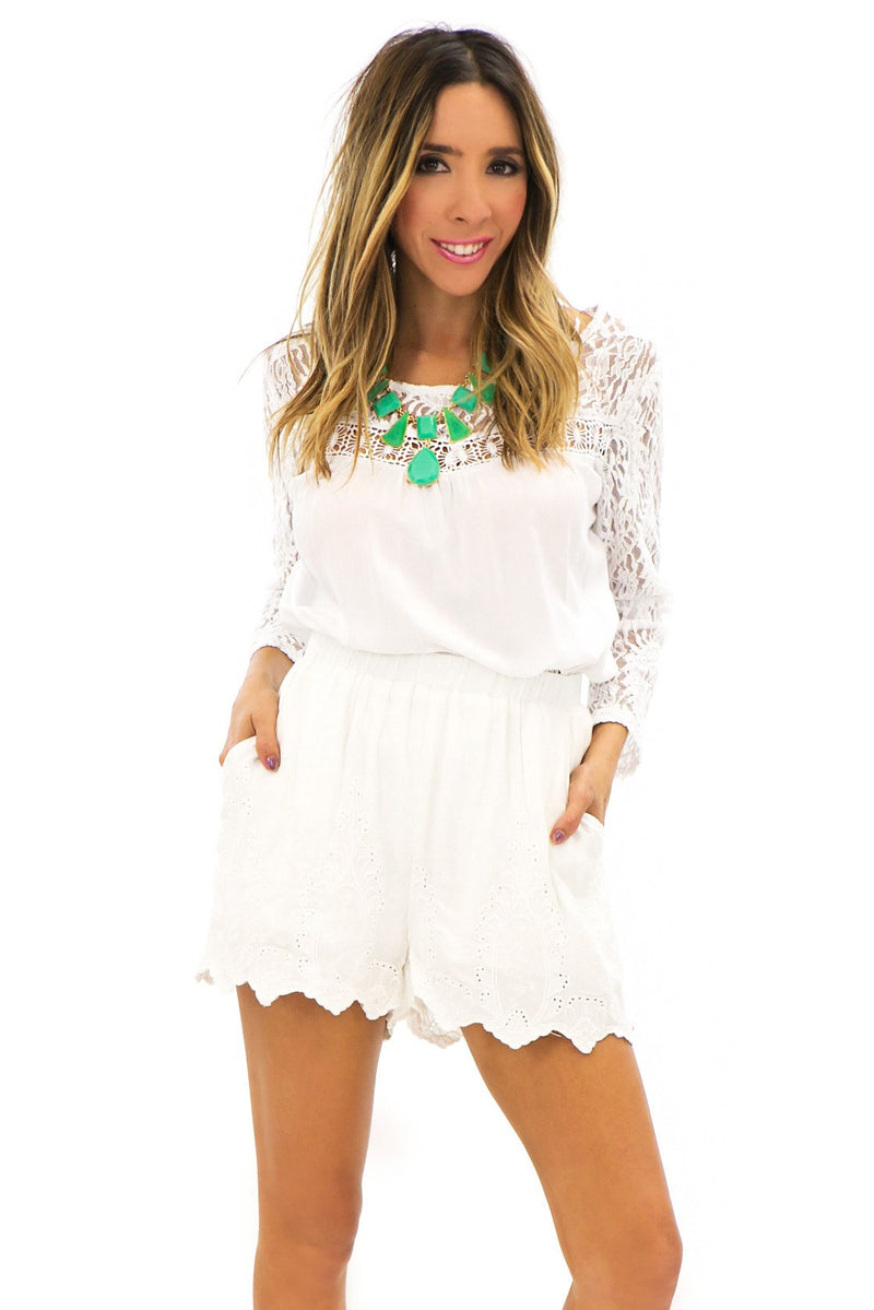 CALLIOPE LACE DETAIL SHORTS - Haute & Rebellious