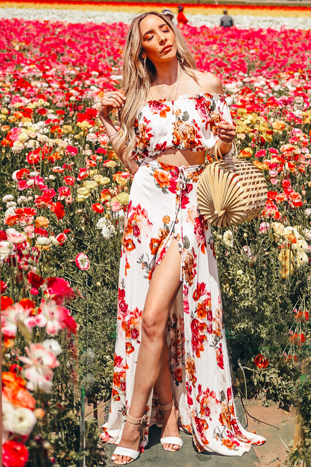 Floral Maxi Skirt & Crop Top Set