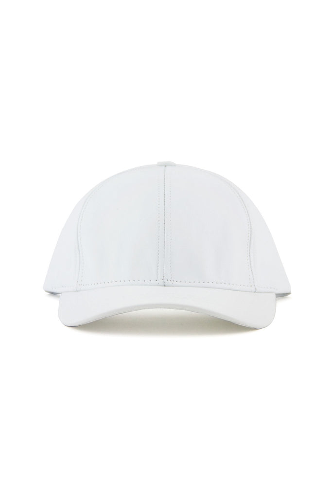 GENUINE LEATHER CAP - White